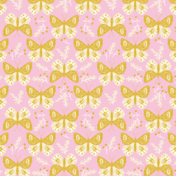 Pretty Butterflies in Pink Rose