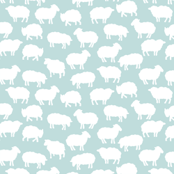 Sheep Silhouette in Glacier Blue