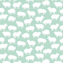 Sheep Silhouette in Mint