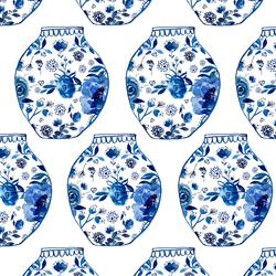 Porcelain in Cobalt