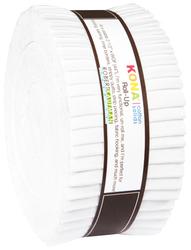 "Kona Solid 2.5"" Strip Roll in White"