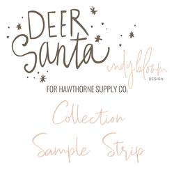 Deer Santa Sample Strip
