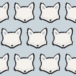Clever Little Fox Knit in Baby Blue