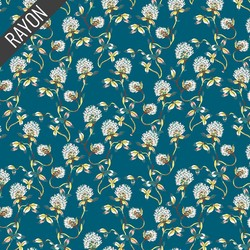 Tranquil Flowers Rayon in Spearmint