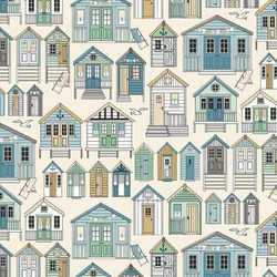 Beach Huts in Cream