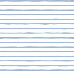Artisan Stripe in Water on White