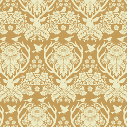Little Antler Damask in Warm Honey