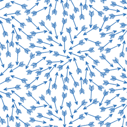 Arrows in Cerulean on White