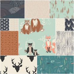 Hello Bear Fat Quarter Bundle in Timber