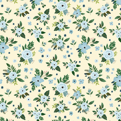 Large Blue Harbour Florals in Yellow