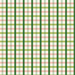 Plaid in Green and Peach