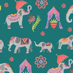 Elephant Parade in Teal