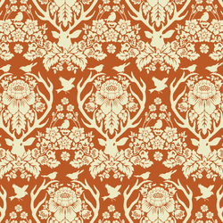 Little Antler Damask in Rust