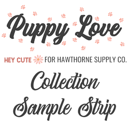 Puppy Love Sample Strip