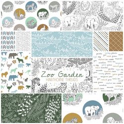 Zoo Garden Fat Quarter Bundle in Grassland