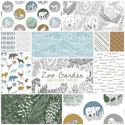 Zoo Garden Fat Quarter Bundle in Grassland