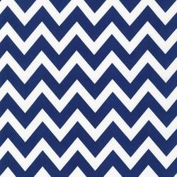 Large Zig Zag Stripe in Navy