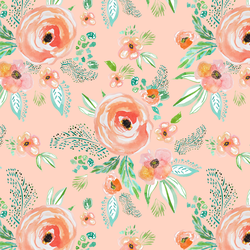 Small Summer Florals in Light Pink Sand