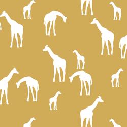 Giraffe Silhouette in Straw