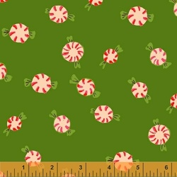 Peppermints Flannel in Green