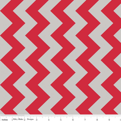 Medium Chevron in Red and Gray