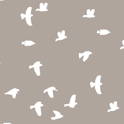 Flock Silhouette in Taupe