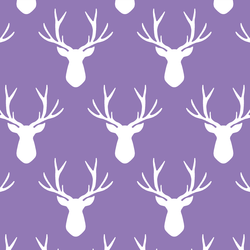 Stag Silhouette in Amethyst