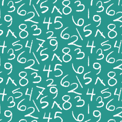 Tossed Numbers in Jade