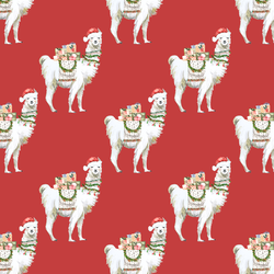 Little Festive Llama in Holly