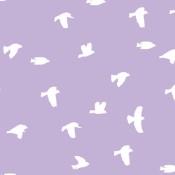 Flock Silhouette in Lilac