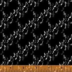 Musical Notes in Black