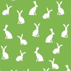 Cottontail Silhouette in Greenery