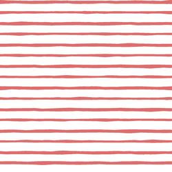 Artisan Stripe in Poppy on White