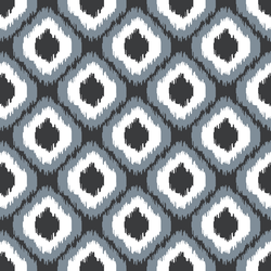 Small Wild Ikat in Dark Grey