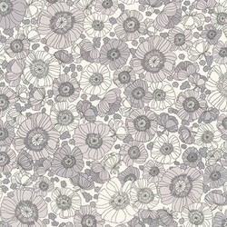 Floral Sketch in Gray