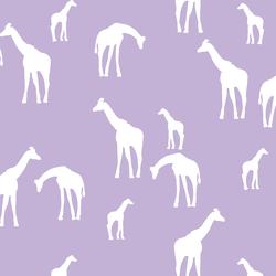 Giraffe Silhouette in Lilac