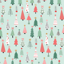 Christmas Tree Forest in Iced Mint