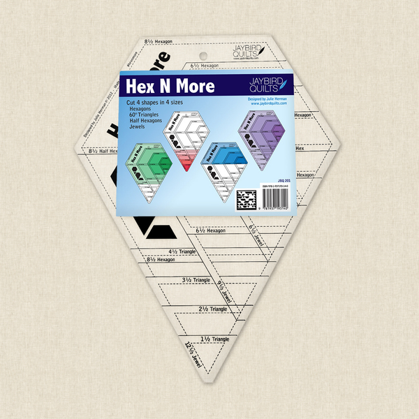 Hex N More Ruler Sewing Pattern by Jaybird Quilts at Hawthorne Supply Co