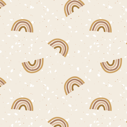 Tossed Terrazzo Rainbows in Toffee