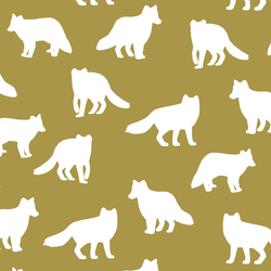 Fox Silhouette in Gold