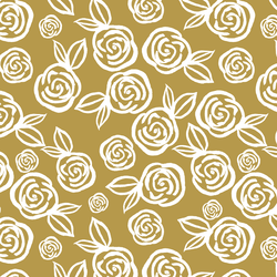 Tea Roses in Gold