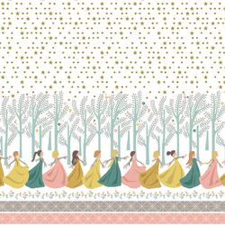 12 Dancing Princesses Border in White