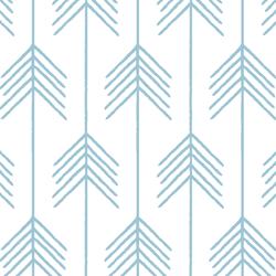 Vanes in Bluebell on White