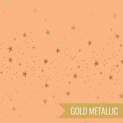 Stars in Peach Metallic