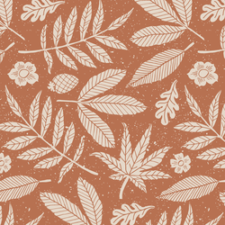 Leaves in Terracotta