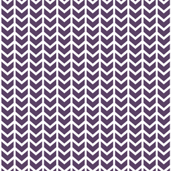 Broken Chevron in Aubergine