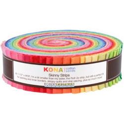 "Kona Solid 1.5"" Strip Roll in Bright"
