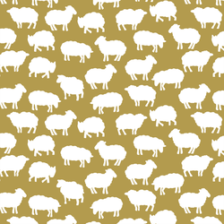 Sheep Silhouette in Gold