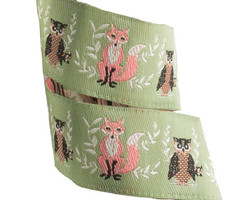 Fox and Owl in Pistachio