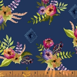 Floral Bouquet in Navy